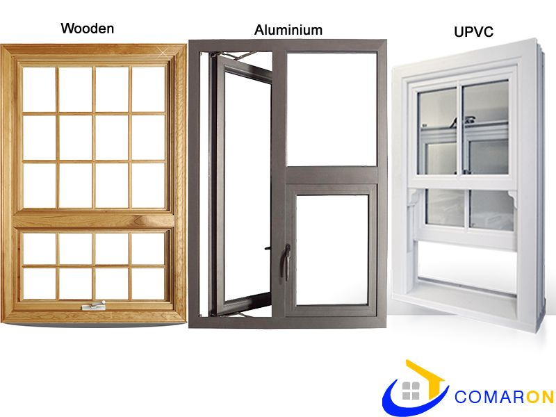 Wooden, Aluminium, UPVC Window Comparison